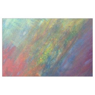 Azul rojo de ROYGBIV del amarillo abstracto Telas
