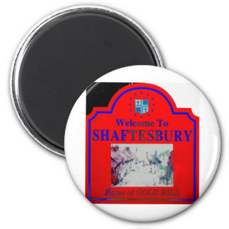 Azul rojo de Shaftesbury Imán Redondo 5 Cm