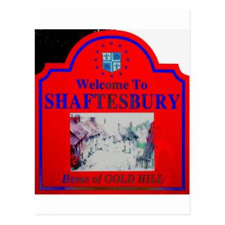 Azul rojo de Shaftesbury Tarjeta Postal