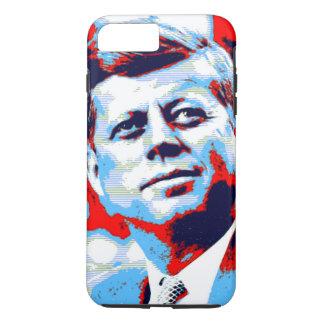 Azul rojo del arte pop JFK John F. Kennedy Funda iPhone 7 Plus