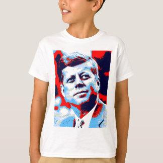 Azul rojo del arte pop JFK John F. Kennedy Playera