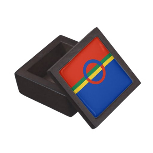 Azul rojo del círculo nórdico en la joyería de la  caja de recuerdo de calidad