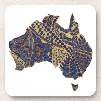 Azul rojo del moreno del Doodle de Australia Posavasos