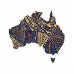 Azul rojo del moreno del Doodle del mapa de Austra Escultura Fotografica