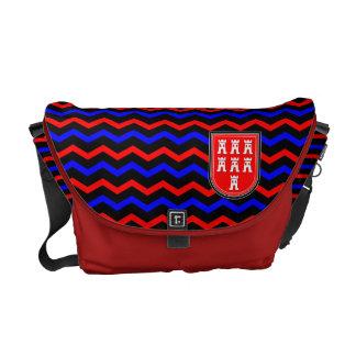 Azul rojo el ciudadano de siete bolsa bolsa de mensajería