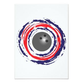 """Azul rojo y blanco que ruedan invitación 5"""" x 7"""""""