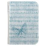 Azul romántico musical de la mariposa