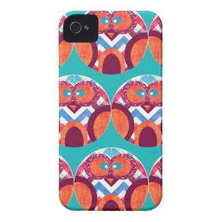 Azul rosado anaranjado púrpura colorido de Chevron Case-Mate iPhone 4 Carcasa