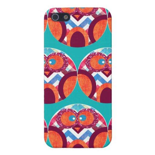 Azul rosado anaranjado púrpura colorido de Chevron iPhone 5 Carcasas