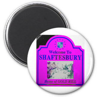 Azul rosado de Shaftesbury Imán Redondo 5 Cm