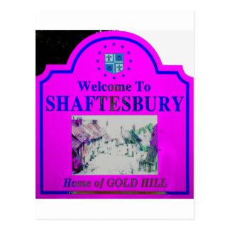 Azul rosado de Shaftesbury Postales