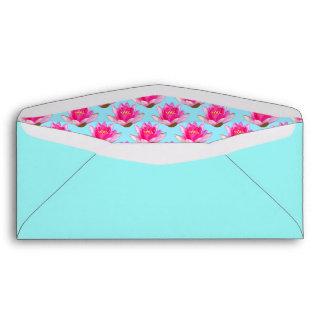 Azul rosado de Waterlilies Sobres