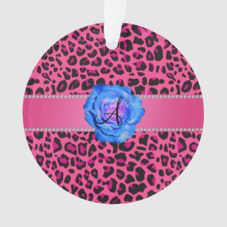 Azul rosado del leopardo del monograma subió