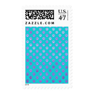 Azul rosado púrpura del trullo de la aguamarina de sellos postales