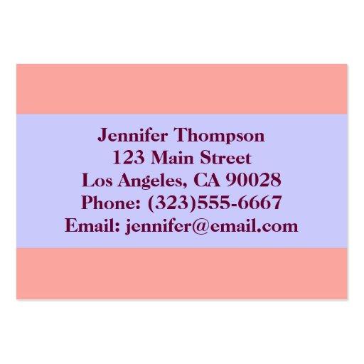 azul rosado tarjetas personales