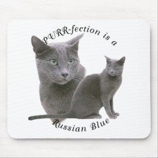 Azul ruso de PURRfection Alfombrillas De Ratón