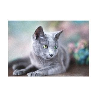 Azul ruso impresión en lienzo