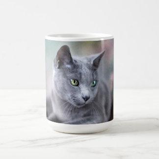 Azul ruso tazas de café