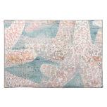 Azul rústico del trullo de las estrellas de mar manteles
