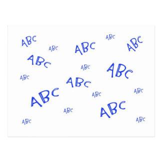 ` Azul s de ABC Postales