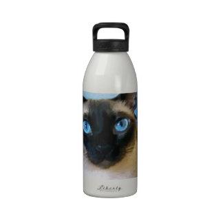 Azul siamés botella de agua reutilizable