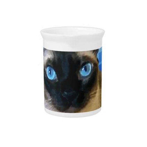 Azul siamés jarrones
