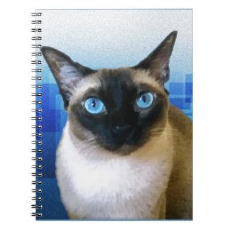 Azul siamés libretas