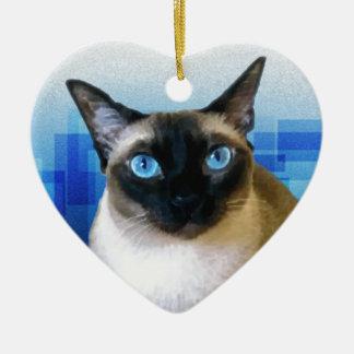 Azul siamés ornamentos para reyes magos