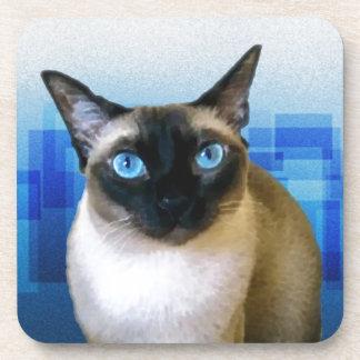 Azul siamés posavasos