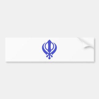 Azul sikh de Khanda Pegatina Para Auto