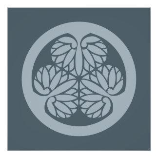 Azul silenciado del escudo de la familia de lunes fotografía