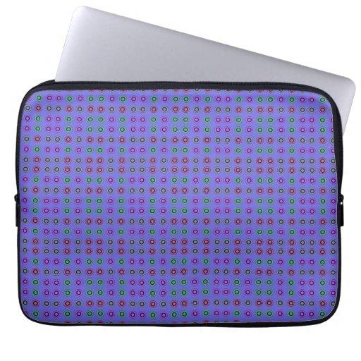 Azul simple del modelo de punto funda portátil
