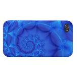 Azul simplemente iPhone 4 cárcasas
