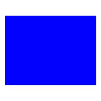 Azul sólido 0000FF Tarjetas Postales