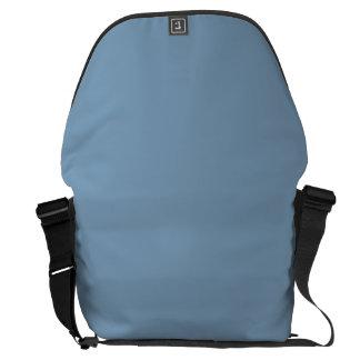 Azul sólido de la oscuridad bolsas de mensajeria