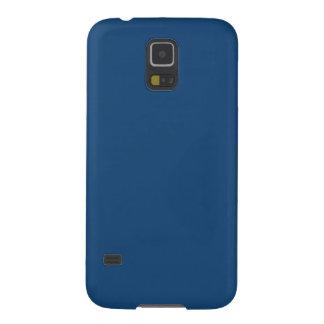 Azul sólido de Mónaco Funda De Galaxy S5