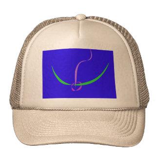 Azul sólido del arco y de la flecha gorras