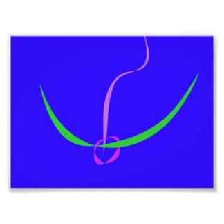 Azul sólido del arco y de la flecha
