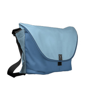 Azul sólido del Cornflower Bolsa Messenger