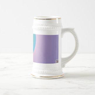 Azul solo taza