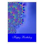 Azul soñador del feliz cumpleaños felicitacion