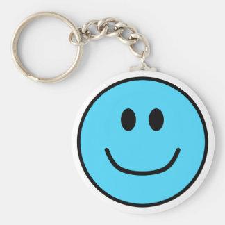 Azul sonriente 0002 del llavero de la cara