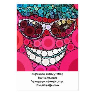 Azul sonriente fresco enrrollado del rosa del tarjetas de visita grandes