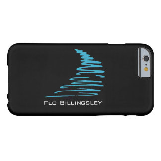 Azul Squiggly de Lines_aqua en black_personalized Funda De iPhone 6 Barely There