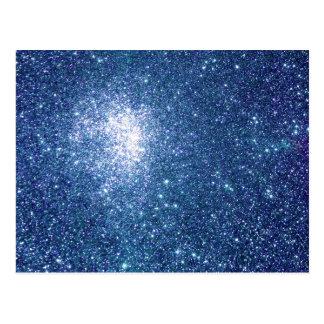Azul Starfield del brillo Postal