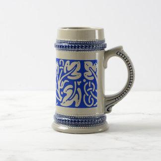 Azul Stein de la mezcla Jarra De Cerveza