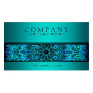 azul subacuático moderno de la mandala de la tarjetas de visita
