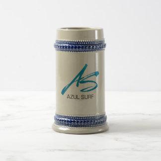 Azul Surf Brush Style Beer Stein