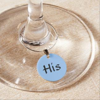 """Azul """"sus"""" encantos de la copa de vino del ~ identificador de copa"""