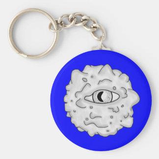 Azul sustancioso del Llavero del globo del ojo